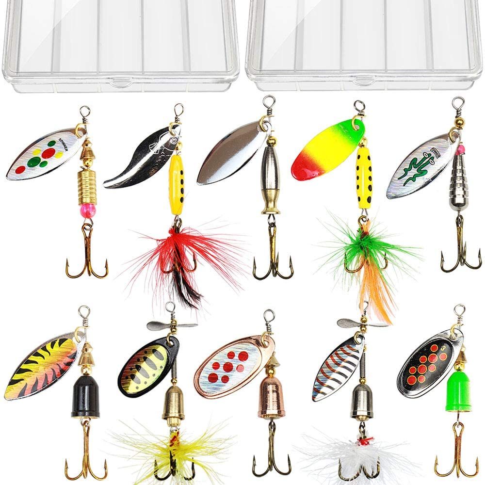 TB Tbuymax Fishing Spinner Bait Kit