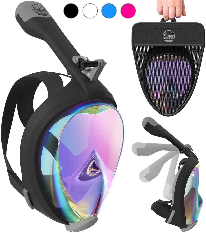 Aleoron - Foldable Full Face Snorkel Mask