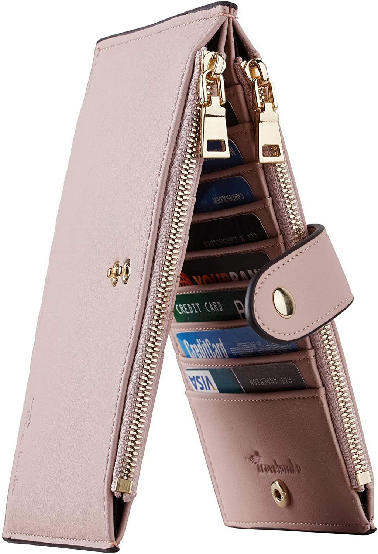 Travelambo Women's Wallet with Zipper Pocket