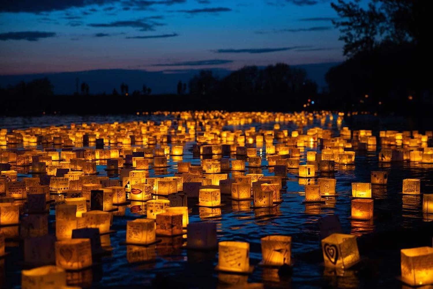 Chinese water lanterns