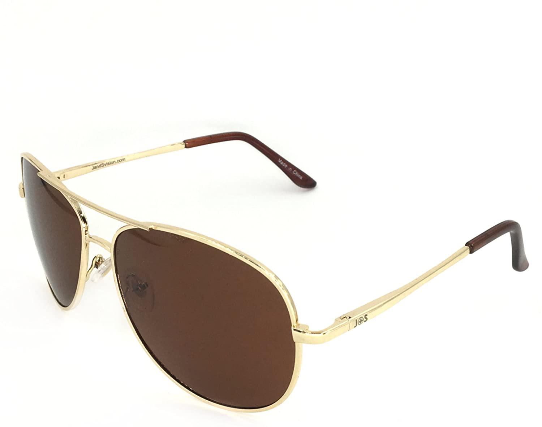 J+S Premium Military Style Classic Aviator Sunglasses