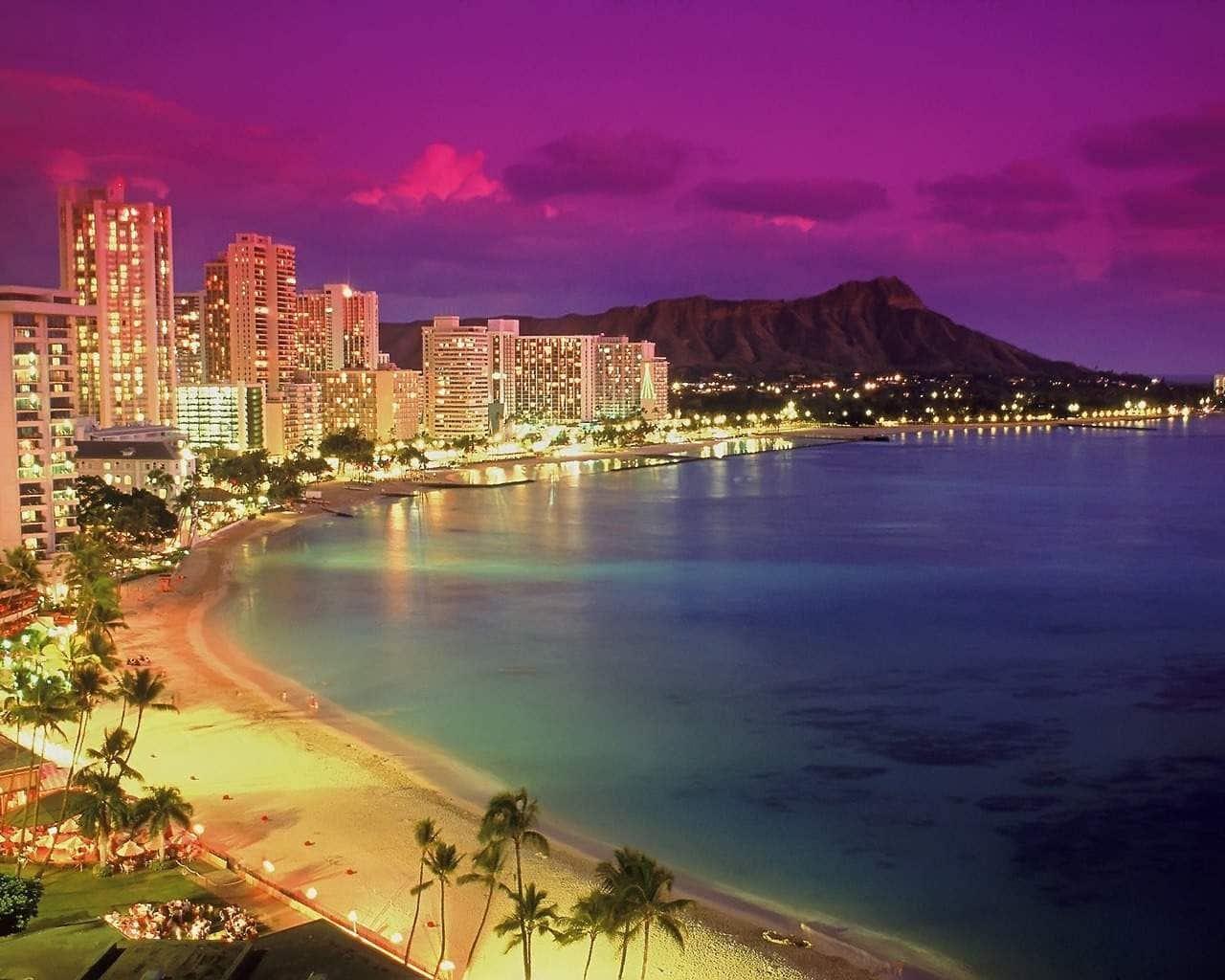 American beach - Waikiki Beach