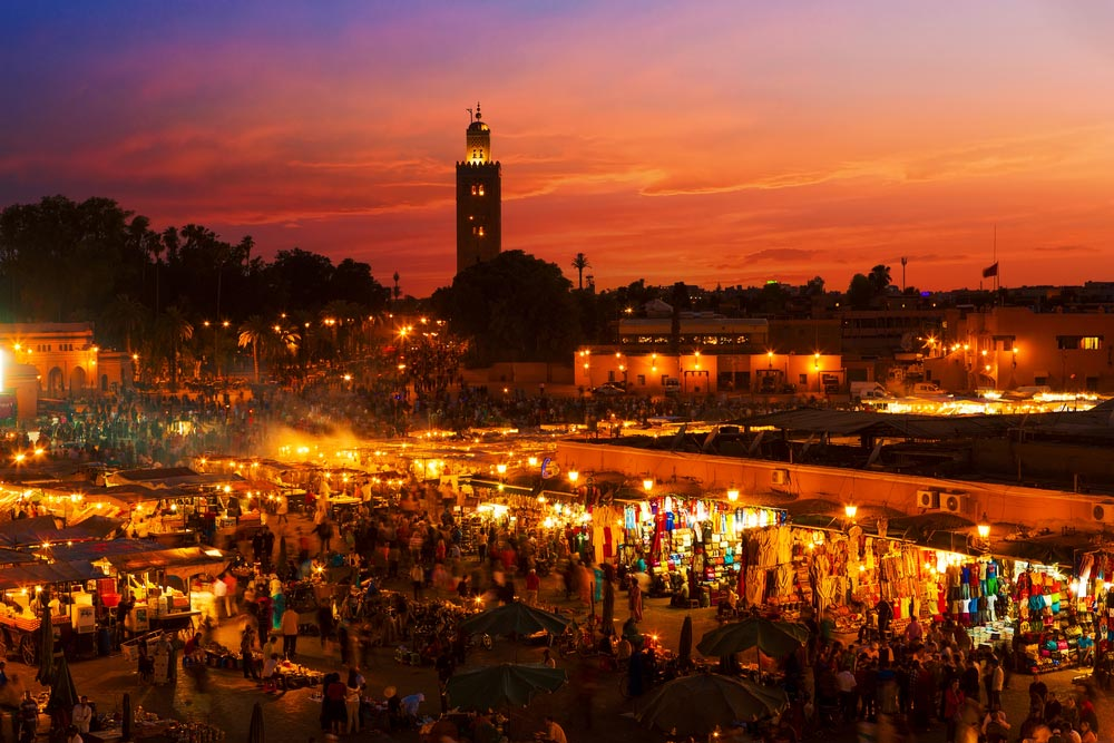 Marrakech Morocco - where is it hot in December