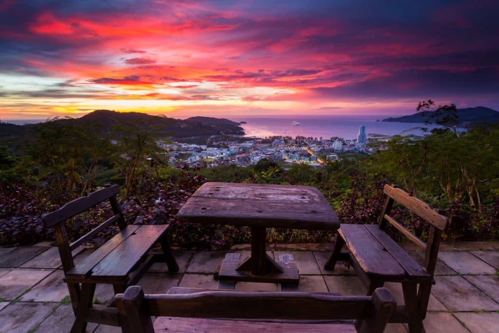 Phuket ocean sunset