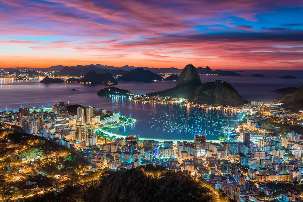 Rio de Janeiro beautiful sunset