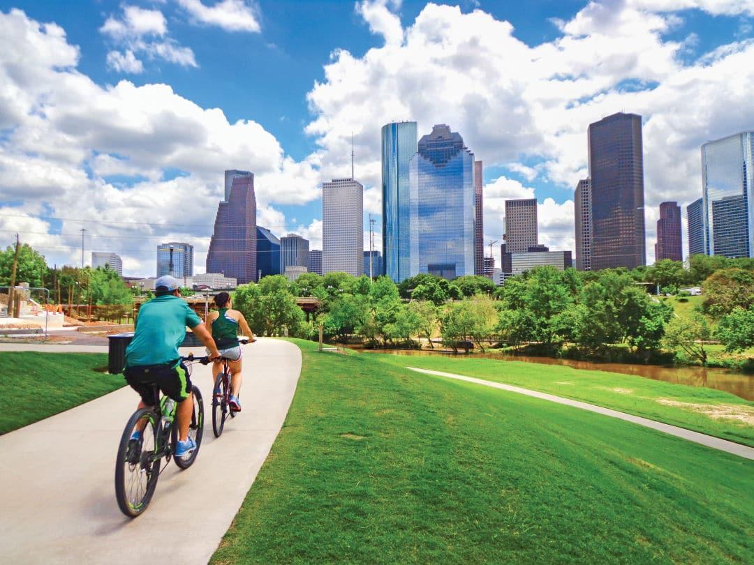 biking in Houston
