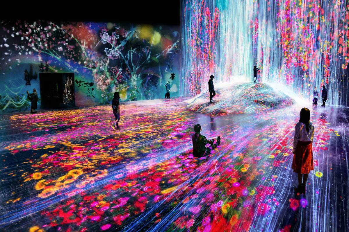 make Tokyo's Digital Art Museum a part of your 4 day Tokyo itinerary