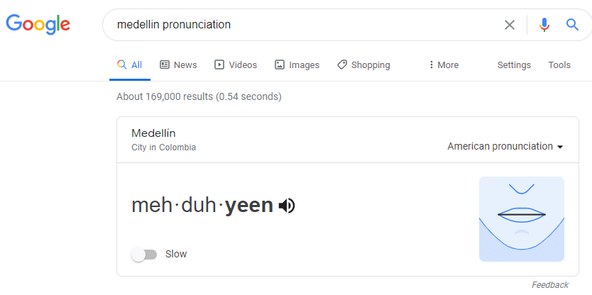 how to pronounce Medellin