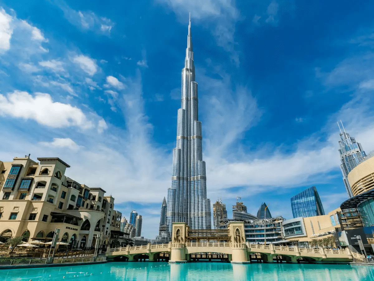 the tallest building in the world - The Burj Khalifa